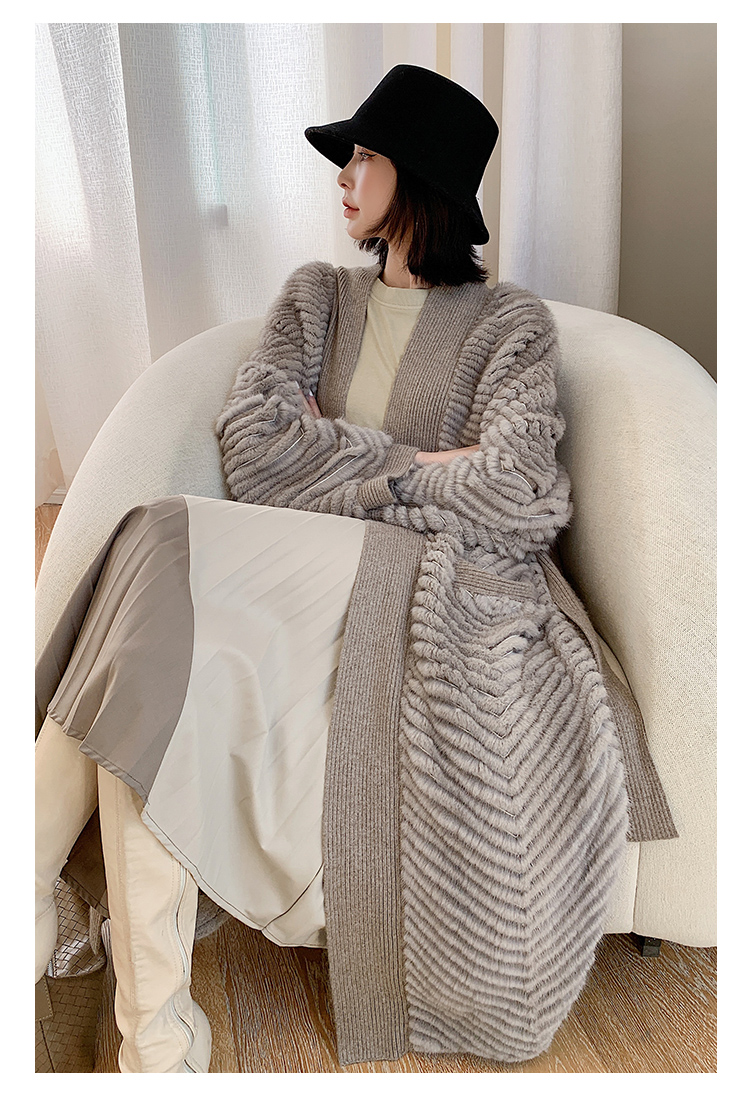 H39ce3138329e4a5fb6bdd9a9ca7996d8l HDHOHR 2021 New High Quality Natural Mink Fur Coat Women With Belt Knitted Real MinkFur Jacket Fashion Warm Long For Female