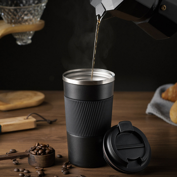 Large Capacity Thermos Bottle Stainless Steel Modern Personalized Water Mug Simple Garrafas Portable Intelligent Cup KK60BW