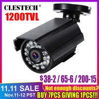 Echt 1200TVL HD Mini Cctv Kamera Cmos Outdoor Wasserdicht IP66 IR Nacht Vision Analog Cam farbe überwachung sicherheit Mit halterung
