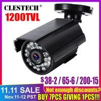 Real 1200tvl hd mini câmera de cctv cmos ip66 à prova dcmos água ao ar livre visão noturna ir analógica cam cor monitoramento segurança com suporte|cctv security|ir infrared night vision|ip66 cctv -