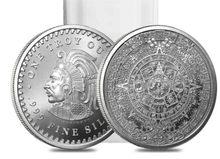 Moneda de plata fina de 1 onza 2021, calendario azteca Maya, cultura Prophecy, recuerdos de Navidad, regalos de Año Nuevo, 999