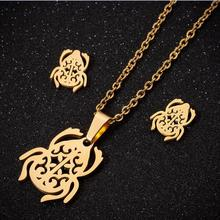 Beetle Necklace Pendants Gold Color Necklace for Women Fashion Stainless Steel Hollow Necklaces Wedding Jewelry Girl Gifts high quality fashion gents women stainless steel health jewelry anion fir germanium gold necklace pendants