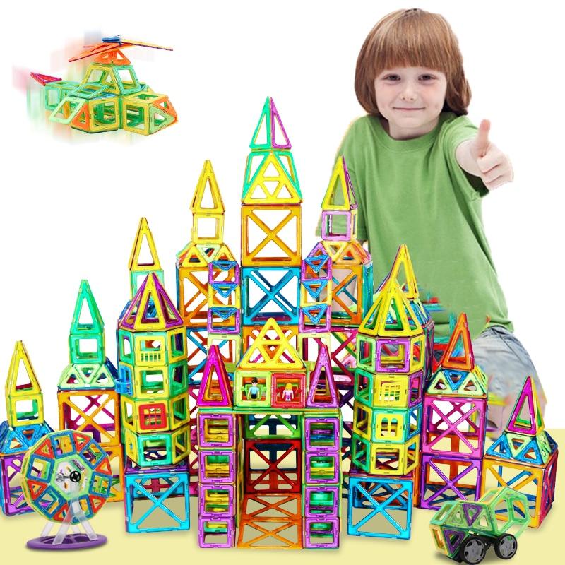 19-149 Uds tamaño grande constructor magnético conjunto niños niñas edificio juguete de imanes magnéticos bloques educativos de diseño para los niños