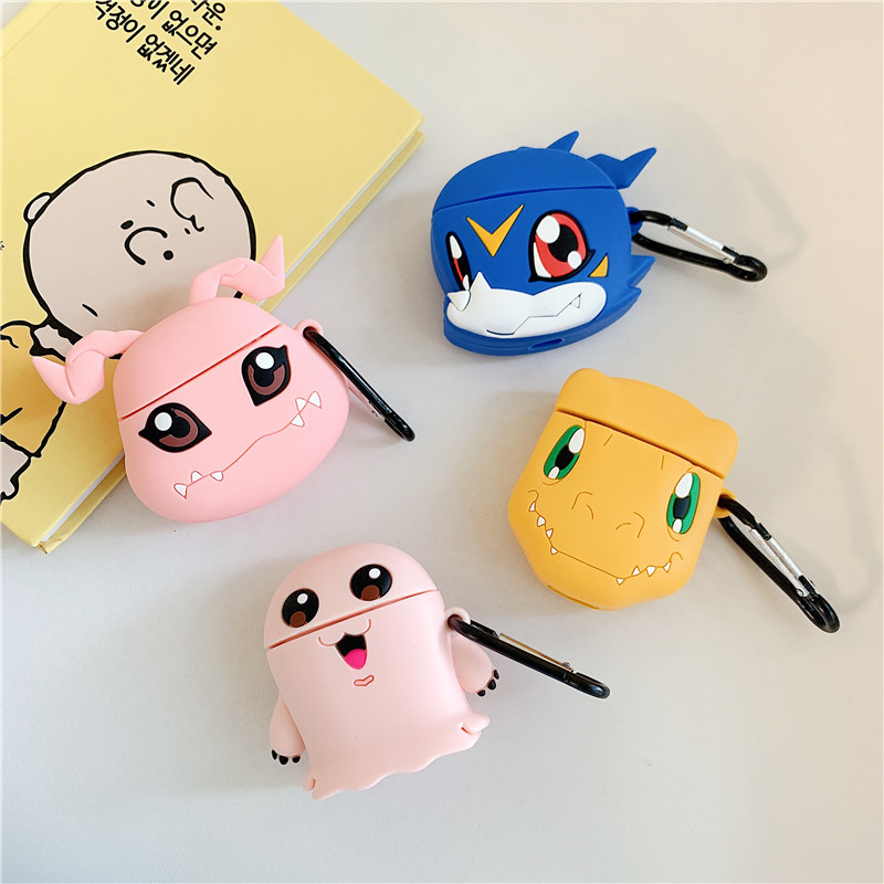 Image 5 - For AirPods Apple Case 3D Cartoon Digimon Adventure Digivice Headphone Case For Airpods 1 2 Silicone Case Protector Cover Coque-in Earphone Accessories from Consumer Electronics