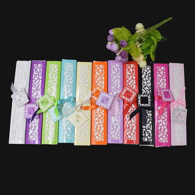 [Auviderin] 100pcs 실크 팬 결혼 선물 팬 personalized 이름과 날짜 선물 상자 인쇄 손 팬 Organza 선물 가방