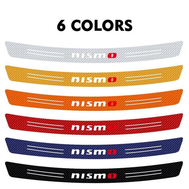 Auto Styling Koolstofvezel Kofferbak Achterbumper Protector Sticker Voor Nissan Nismo X-Trail Almera Qashqai Tiida Accessoires
