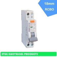 EKL4-32  RCBO 6A,10A,16A,20A,25A,32A 1P+N Electronic A Type 6KA 18mm