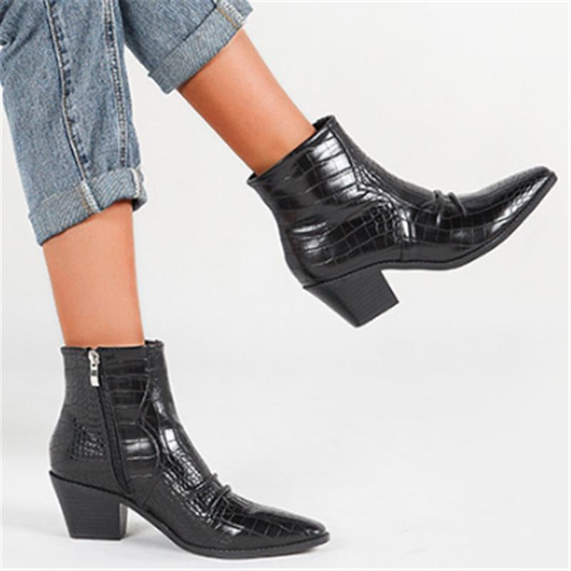 2020 осень зима Модные женские высококачественные кожаные ботинки
