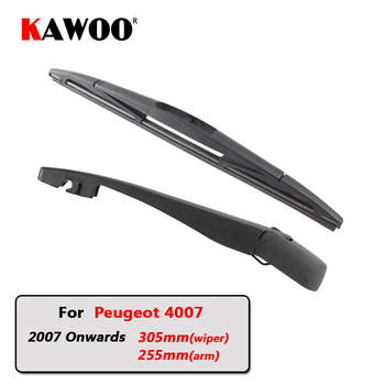 KAWOO Car Rear Wiper Blade Blades Back Window Wipers Arm For Peugeot 4007 Hatchback (2007 Onwards) 305mm Auto Windscreen Blade sliverysea rear windscreen wiper and arm for honda airwave 2009 onwards 14 5 door wagon high quality iso9000 natural rubber
