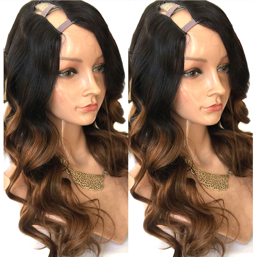 Eversilky U Part Wig For Black Women U Wigs Loose Body Wave Brazilian Remy Hair Ombre Blonde  Wig 1x4 Right Opening Human Hair