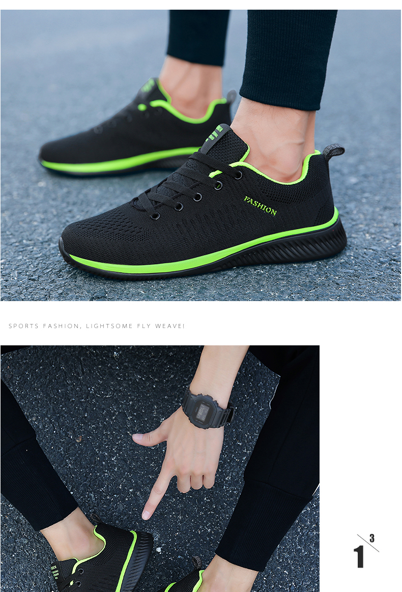 H39cfc1699c234b83a0b7bb23d9628a30l New Mesh Men Casual Shoes Lac-up Men Shoes Lightweight Comfortable Breathable Walking Sneakers Tenis masculino Zapatillas Hombre