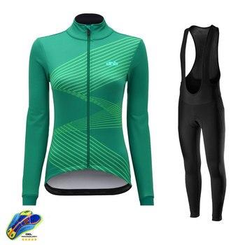 DHB-camisetas de Ciclismo para mujer, uniforme de bicicleta para equipo profesional, Conjunto...