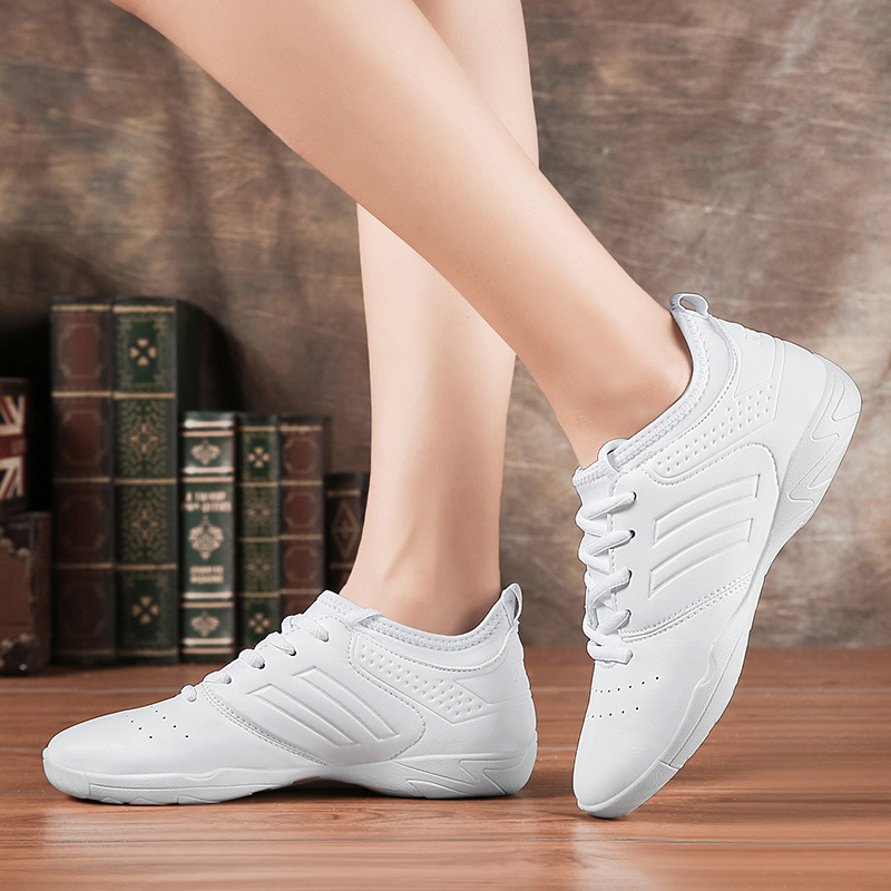 Lightweight white soft athletics Dance Shoes women Comfortable Gym Aerobics Sneakers Girls Ladies Training Cheerleading shoes