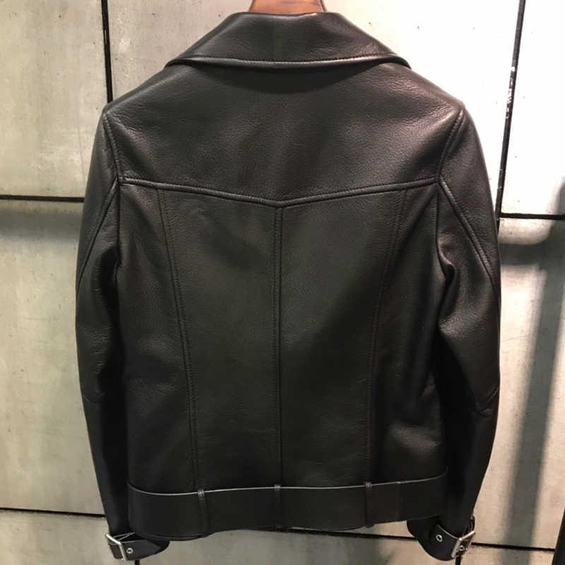 Fandy Lokar пальто из натуральной кожи женские модные импортные куртки из козьей кожи женские элегантные однотонные байкерские куртки женские HM