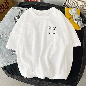 Women T Shirt Fashion Aesthetic Graphic Tee Shirt Harajuku Shirt Vintage Oversized T Shirt Women O-Neck Short Sleeve Streetwear 1