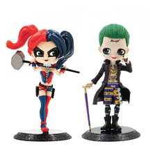 15cm Q Posket Suicide Squad Joker Harley Quinn Figure PVC Action Figures Collectible Model Toy QPosket Dolls gift Car Decoration(China)