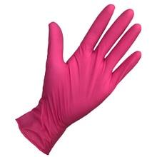 50 пар/партия износостойкие Прочные нитриловые одноразовые перчатки пищевые медицинские тестирование хозяйственные перчатки для уборки антистатические Glo