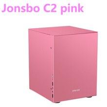 "Jonsbo C2 분홍색 알루미늄 소형 ITX MATX 컴퓨터 상자 USB3.0 게임 작은 포좌 C2S 검정 HTPC ITX 지원 3.5 ""HDD USB3.0"