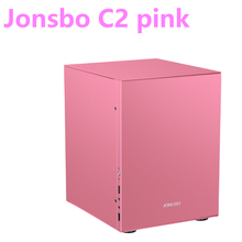 Jonsbo c2 rosa alumínio mini itx matx computador caso usb3.0 jogo pequeno chassi c2s preto htpc itx suporte 3.5 hdd hdd hdd usb3.0