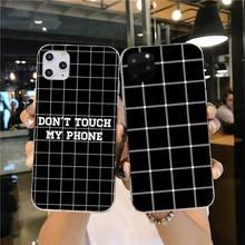 цена Black white Yellow Grid Phone Case Cover for iPhone 11 pro XS MAX 8 7 6 6S Plus X 5S SE 2020 XR cover онлайн в 2017 году