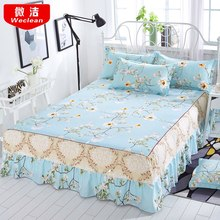 Bed skirt Bedcover Floral Fitted Sheet Cover Bedspread Bedroom Home Textile Skirt Cubrecama Single Full Queen Bedspread(China)