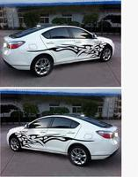 Yiwa 3D Flame Totem Decals Car Stickers Full Body Car Styling Vinyl Decal Sticker for Cars Decoration Car Sticker