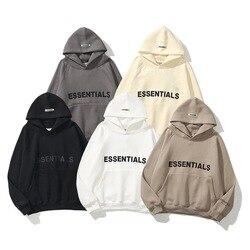 Essentials moletom com capuz hip hop hoodie masculino feminino casual pulôver treino impressão camisolas pressão cola carta