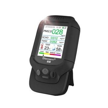 PM2.5/HCHO/TVOC Temperature Humidity Monitor AQI Air Quality Analysis Tester Gas Detector Analyzer Measuring Tool Smog Meter