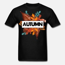 Men t shirt Hello Fall Leaves Are Falling Boots Autumn tshirts Women-tshirt(China)