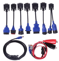 9pcs Full cables for USB Link 125032 for Nexiq Nexiq2 Truck diagnostic Tool Truck Cables Truck Diagnostic Cables