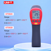 UNI T UT302A UT302C UT302D ללא מגע דיגיטלי מדחום כף יד אינפרא אדום טמפרטורת אקדח 100% מקורי