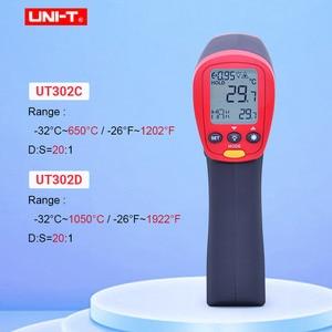 Image 1 - UNI T UT302A UT302C UT302D عدم الاتصال ميزان الحرارة الرقمي يده درجة حرترة تحت الحمراء بندقية 100% الأصلي