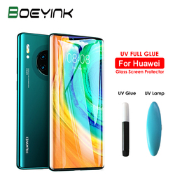 На Алиэкспресс купить стекло для смартфона boeyink uv full glue tempered glass for huawei mate 30 pro 5g screen protector 21d uv glass film for huawei mate 30 pro rs