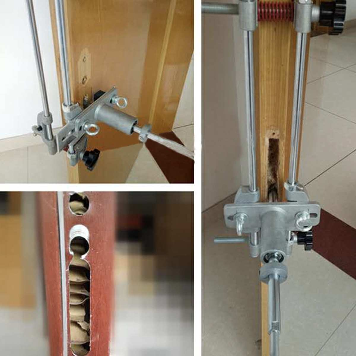 Tools : 8 Pcs Mortice Door Fitting Jig Lock Mortiser DBB Key JIG1 With 3 Cutters Case Maintenance Security Tool Door Lock Mortice Kit