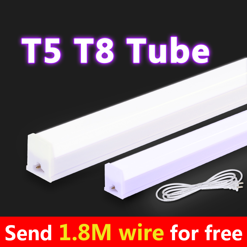 T5 T8 LED Tube Light 220V 10W 6W EU Type T5 Tube White Warm White 30cm 60cm 2ft Tubo Led Tl Led Lamp Bulb For Home Kitchen Lamp