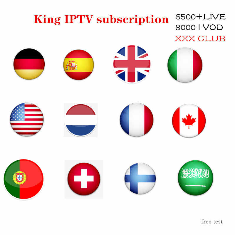 Best Stable 1 Year IPTV Portugal Spain IPTV Subscription 6500+Live8000Free VOD include eleven sport for Android Box M3U Smart TV