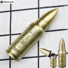 Creative lighter metal bullet Inflatable Military Windproof high quality Man customization gift Cigarette