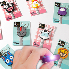Key-Cover Holder Key-Chain-Pendant Protective-Case Led-Lamp Small Soft-Silicone High-Grade