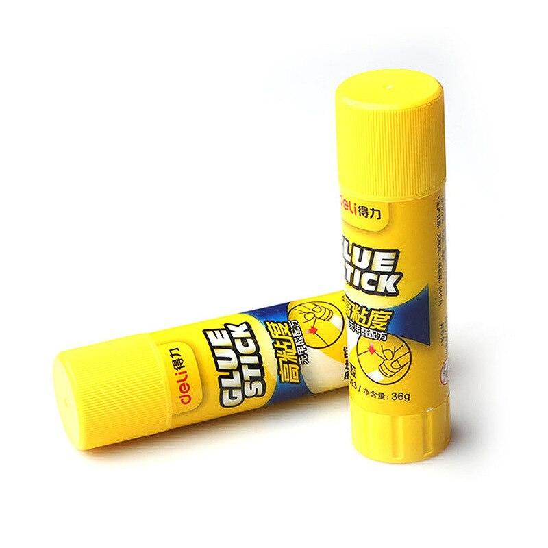 Deli 7093 Solid Glue Strong Solid Glue Stick 36G Solid Glue Medium Glue Stick Adhesive Glue Paper Wholesale
