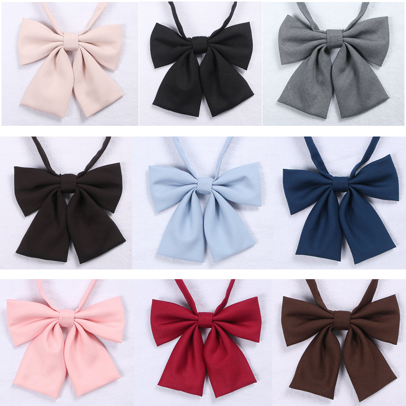 Japanese School JK Uniform Bow Tie For Girls Butterfly Cravat Solid Color School Sailor Suit Uniform Accessories Flowers Tie