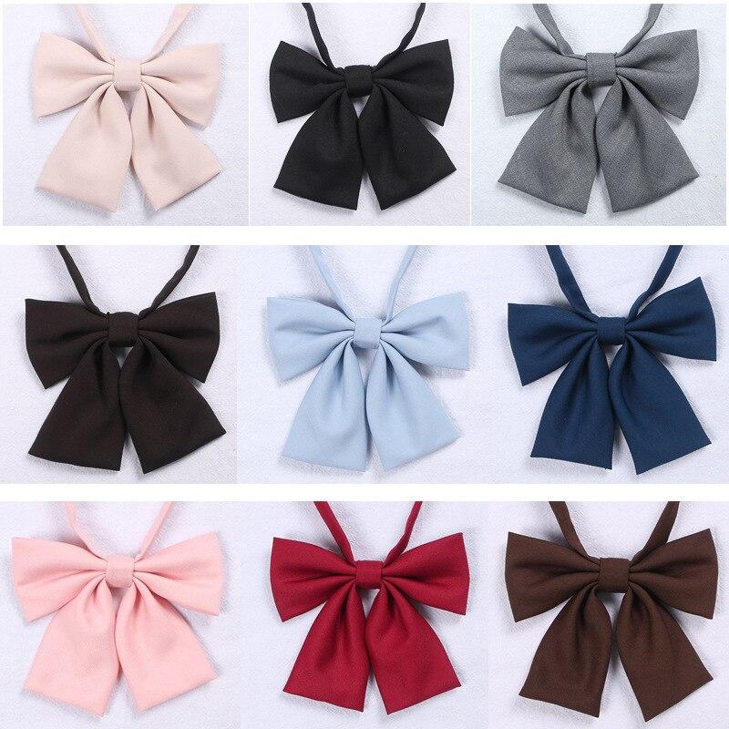 Japanese School JK Uniform Bow Tie For Girls Butterfly Cravat Solid Color School Sailor Suit Uniform Accessories Flowers Tie