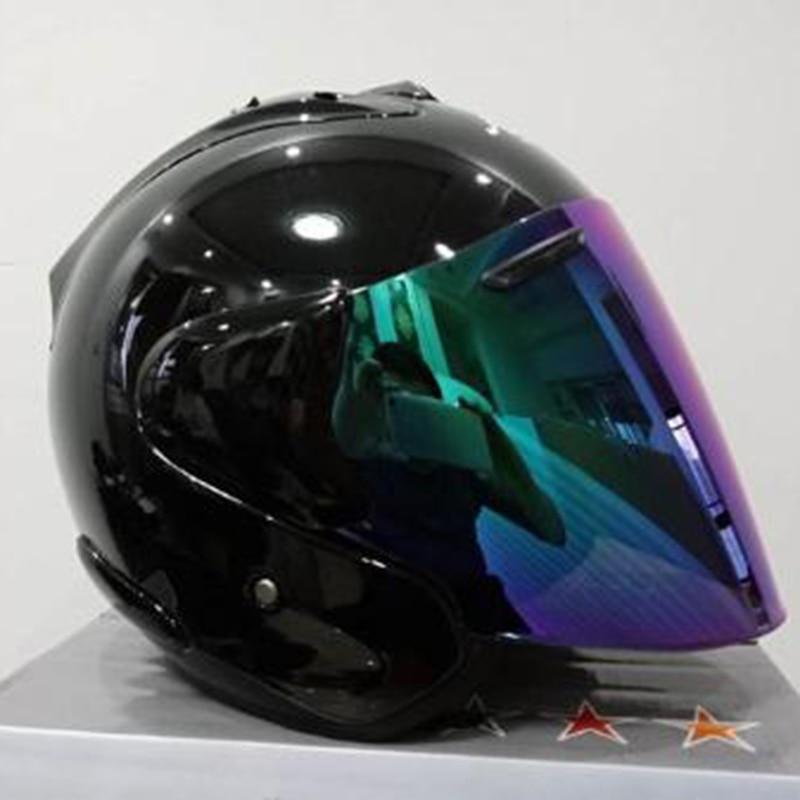 Черный мотоциклетный шлем, половинчатый шлем для спорта на открытом воздухе, для мужчин и женщин, для мотоциклистов, всесезонный