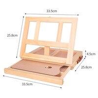 Desktop Drawer Oil Painting Frame Wood Folding Frame Portable Solid Desktop Sketch Frame Kids Easel For Painting Table Easel