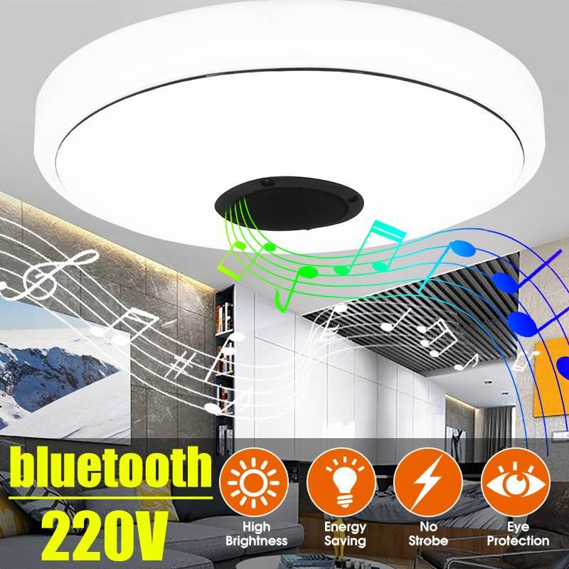 Anti-glare Modern LED Ceiling Lights Home Lighting 18W 220V Bluetooth Music Light Bedroom Lamps Smart Ceiling Lamp Cool White
