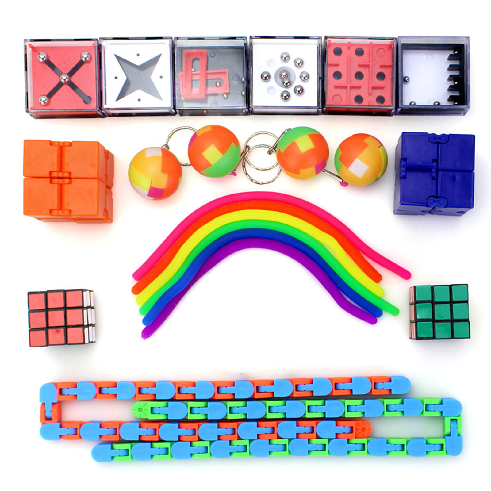 24pcs/set Sensory Toys Party Favors Hand Fidget Toys For Kids Adult Antistess Autism Special Needs Stress Reliever Toys enlarge