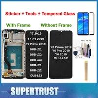 Cep telefonları ve Telekomünikasyon Ürünleri'ten Cep Telefonu LCD'leri'de Orijinal Huawei Y7 2019 DUB LX3 DUB L23 DUB LX1 Y7 başbakan 2019/Y6 başbakan 2019 dokunmatik LCD ekran ekran temperli cam