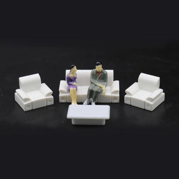 Architectural layout design furniture model set toy contains (3 sofas and 1 table) 1:75 scale 10 sets for the interior landscape interior landscape