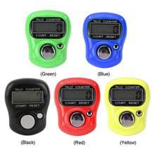 Mini marcador de Punto y Contador de dedos de fila, contador Digital electrónico LCD para costura, herramienta para tejer, rango de 0 a 99999