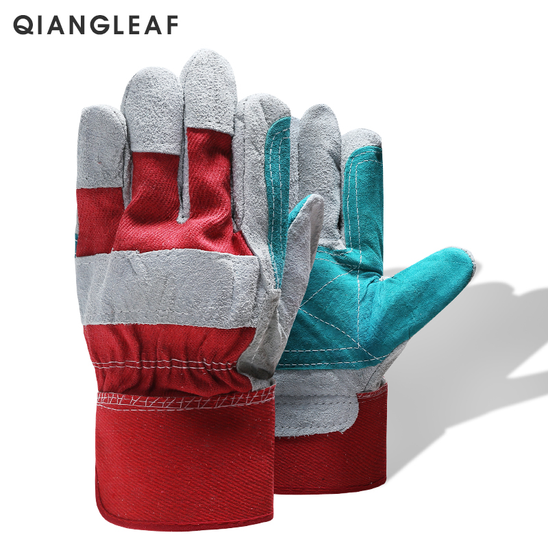 QIANGLEAF Brand Work Gloves Men Working Welding Gloves Safety Protective Wear-resisting Gloves Free Shipping  QY1646