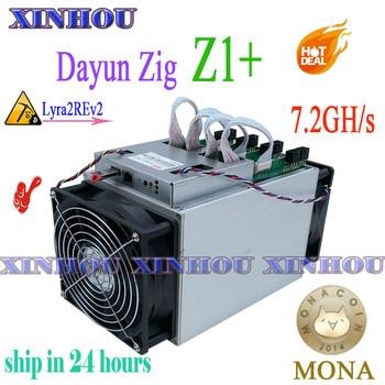 Used Lyra2REv2 Miner Dayun Zig Z1+ 7.2GH/s asic mining MONA ABS  ORE XVG STAK KREDS better than WhatsMiner M3X M10 baikal G28 Z9